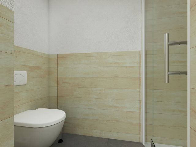 Badezimmer in Strandhausstil