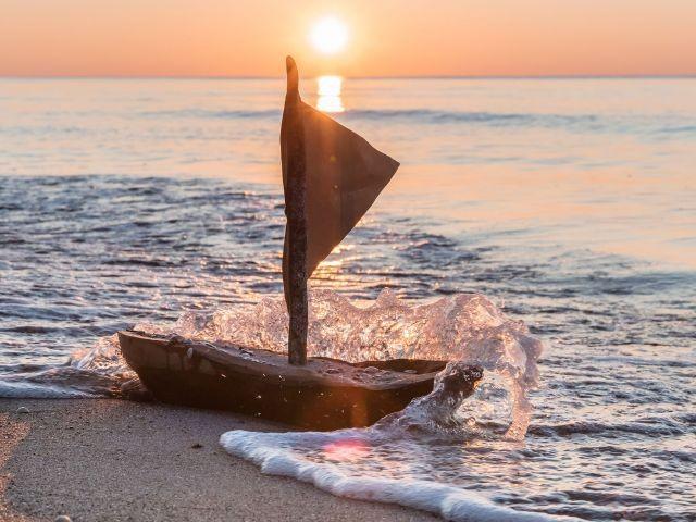 Sonnenunztergang an der Ostsee