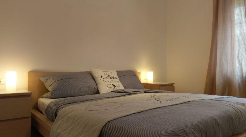 Das ruhig gelegene Schlafzimmer