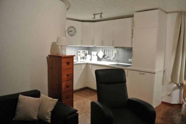 Küche, Ansicht vom Wohnbereich