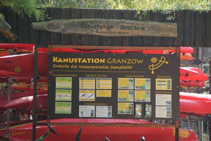 """Kanustation """"Granzow"""" direkt am Granzower See im Ferienpark"""