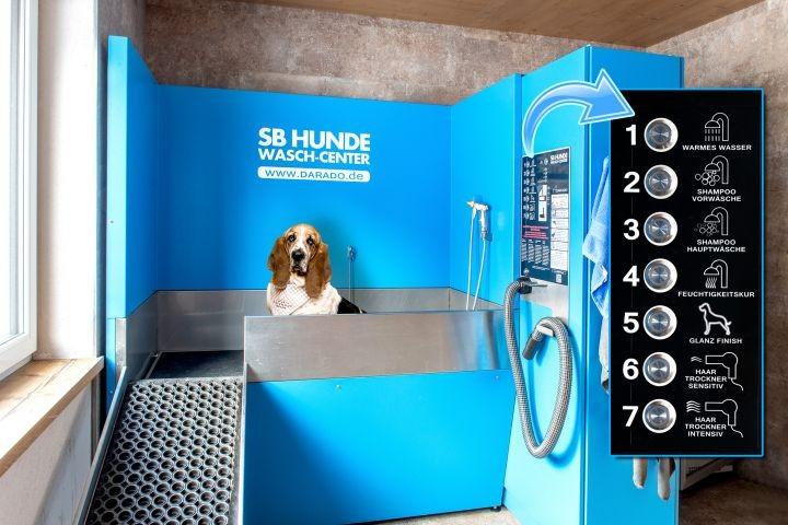 Unsere hoteleigene Hundewaschanlage
