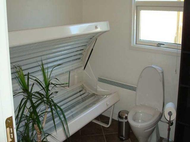 Solarium im kleinen Badezimmer
