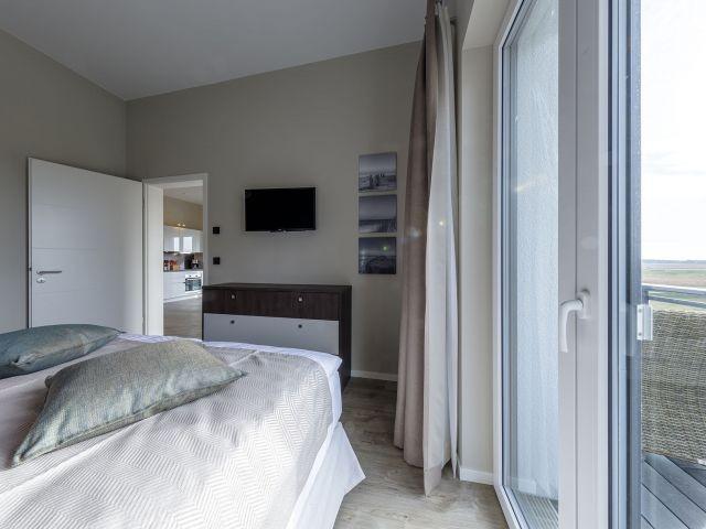 Zugang zum Balkon vom Schlafzimmer