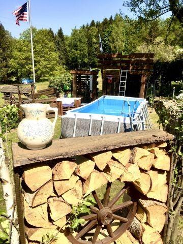 Pool, Baumhaus, Gartendusche