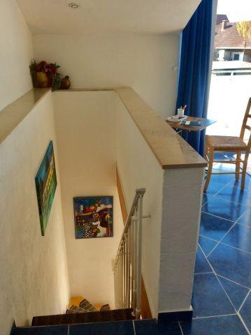 offene Treppe in das Obergeschoss
