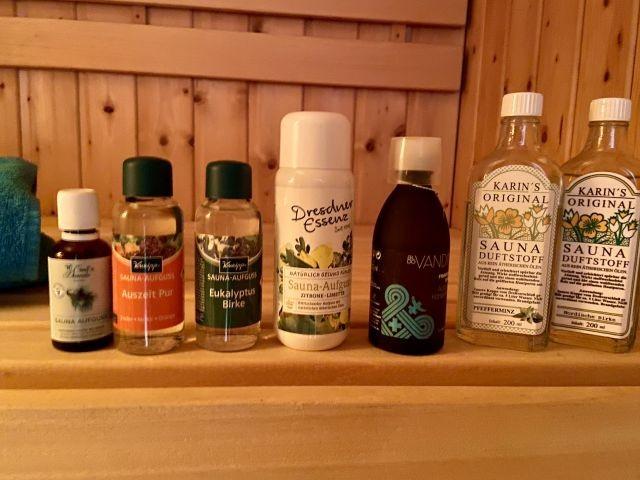 Ein grosses Auswahl an Sauna-Düften
