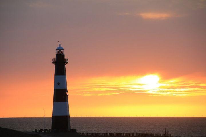 Sonnenuntergang am Leuchtturm
