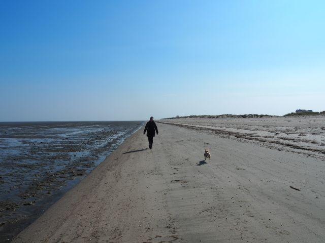 ausgedehnter Sandstrand