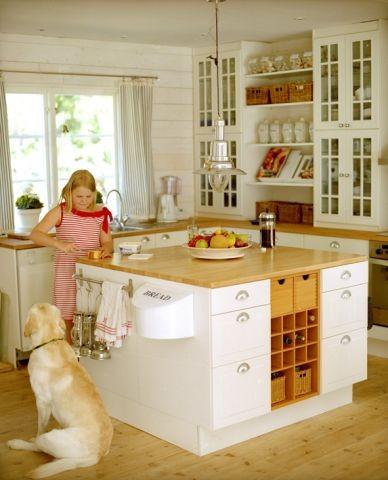 Die moderne Küche mit Geschirrspüler
