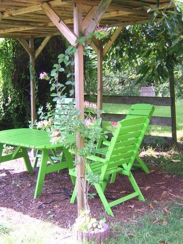 Gästeplatz im Garten mit Grill