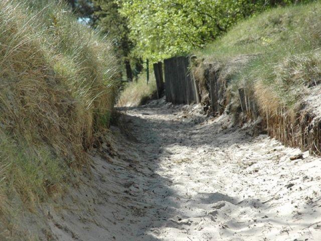 Strandabgang zum Sandstrand Nonnevitz