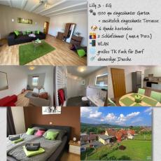 Ferienwohnung mit 1500 qm eingezäuntem Garten / Lilly 3 EG