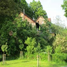 Natur pur: Waldgasthaus Frau Holle, FeWo Wildkatze, Kamin